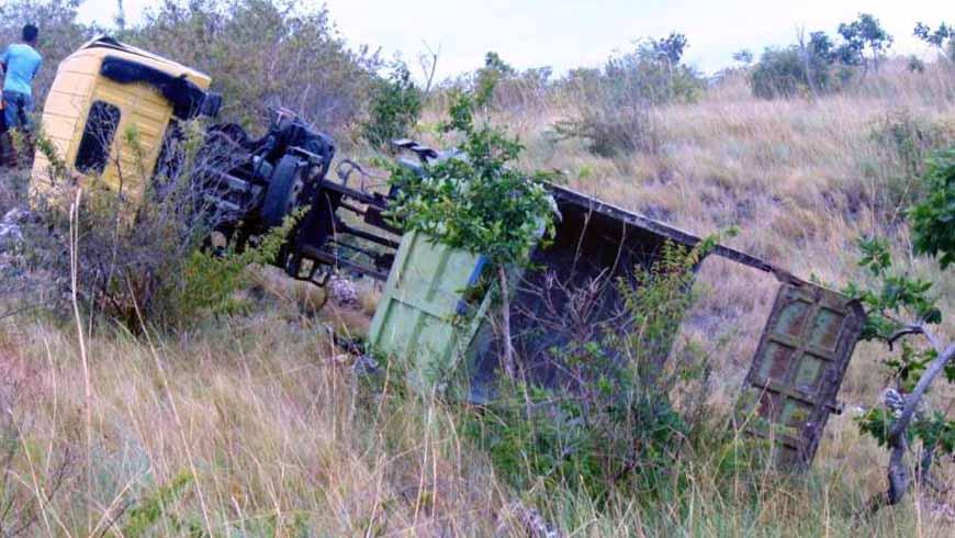 truck dump celaka