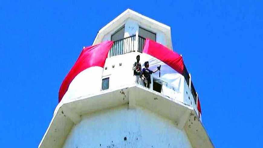Merah Putih di Mercusuar