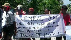 Demonstrasi Menolak PT. Muria Sumba Manis