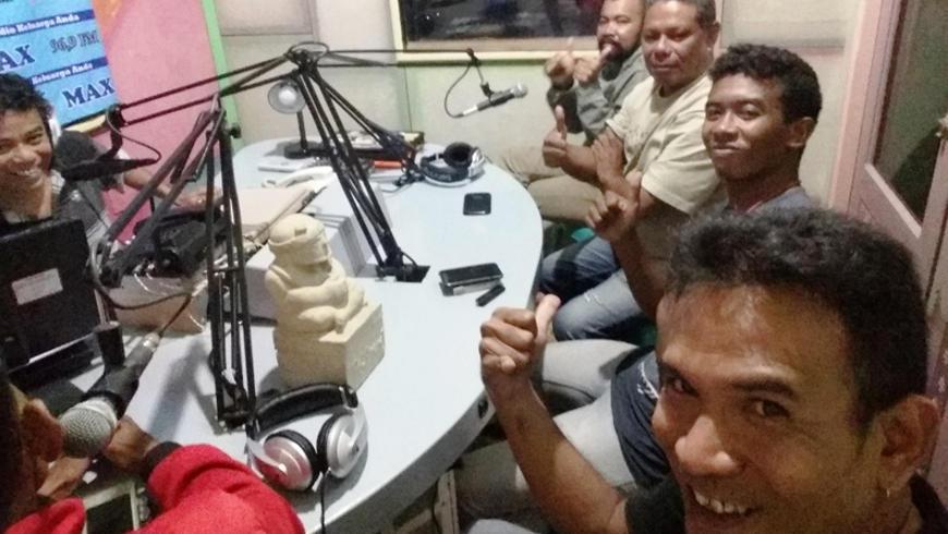 Jurnalis Sumba Talk Show Tentang Hari Pers Nasional 2018
