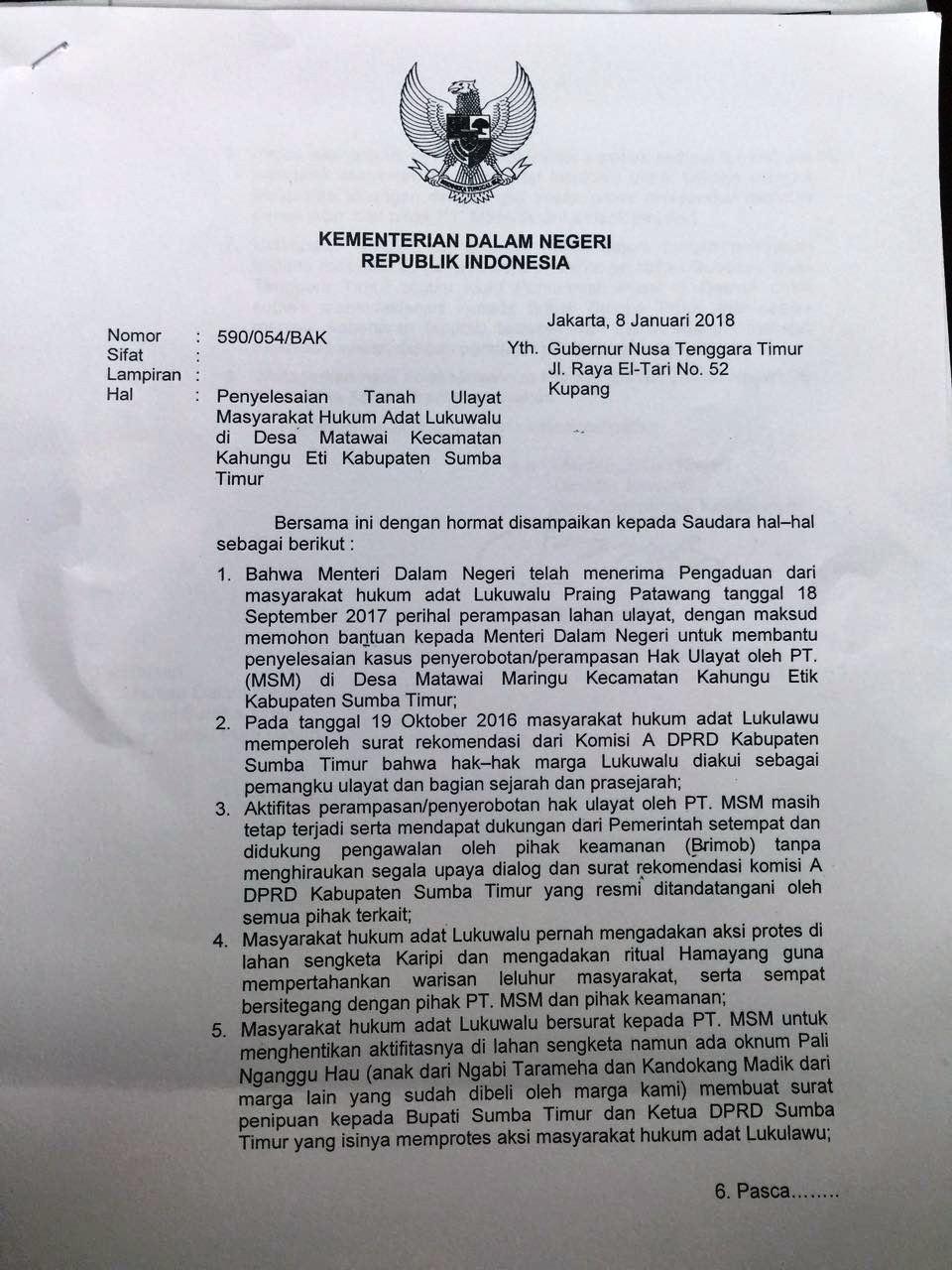 Surat Menteri