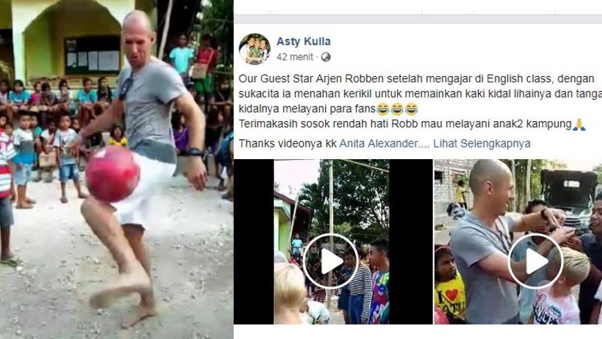 Arjen Robben Jugling