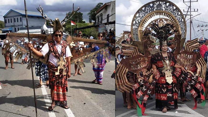Tenun Ikat Sumba Dalam Karnaval HUT RI 73