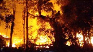 Kampung Adat Bondo Maroto Terbakar