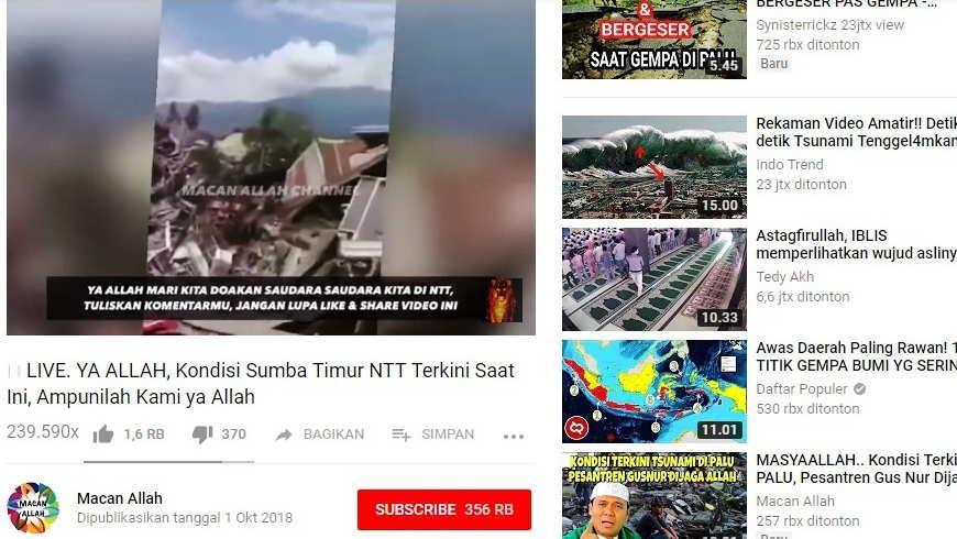 Hoax Gempa Sumba