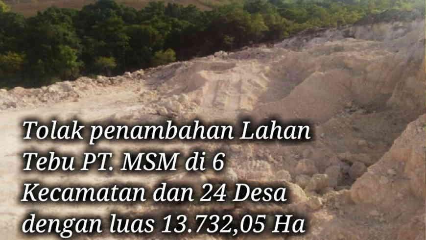 Jumlah :Lahan Investor PT. MSM