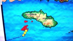Titik gempa di pulau sumba