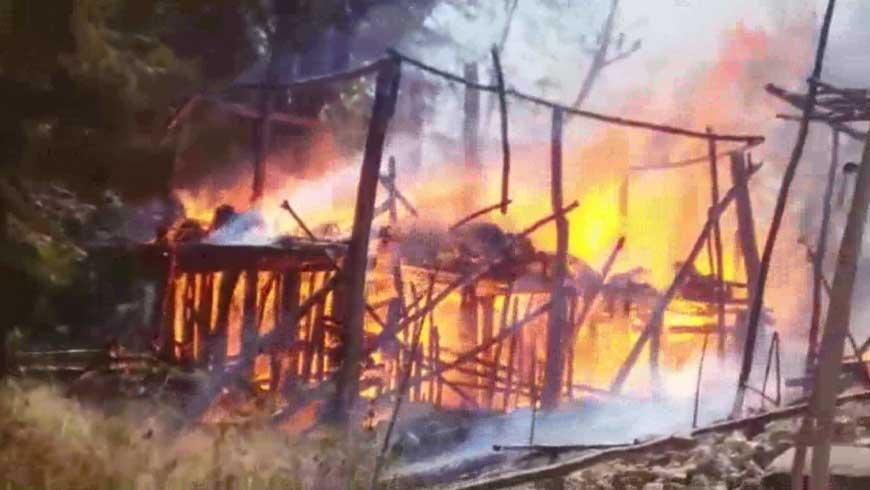 Kampung Adat Ubu Bewi Terbakar