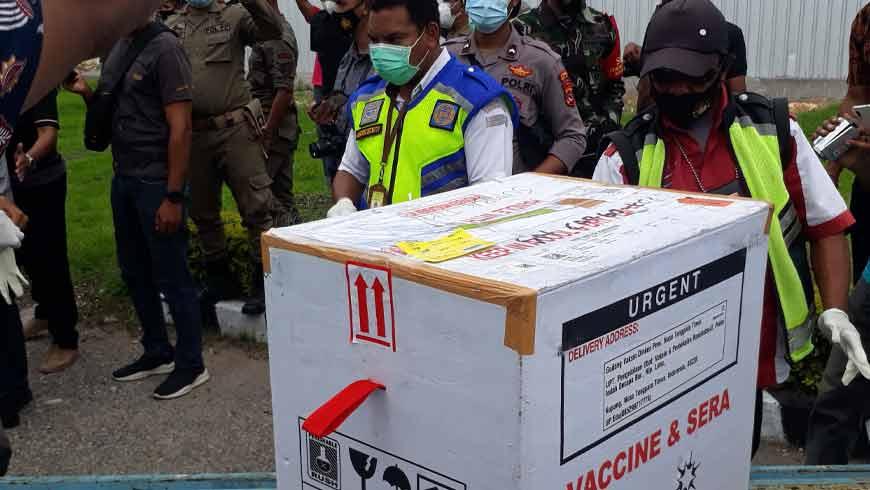 Vaksin Sinovac Tiba di Sumba Timur